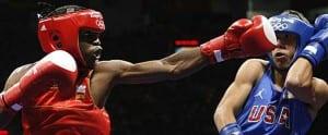 Kelvin de la Niee en su combate contra el norteamericano Luis Yañez en Pekín 2008