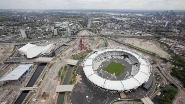 Imagen aérea del Estadio Olímpico de Londres 2012
