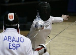 El tirador José Luis Abajo en los Juegos Olímpicos de Pekín 2008