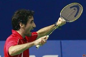 El jugador de badminton de Calatayud, Pablo Abián