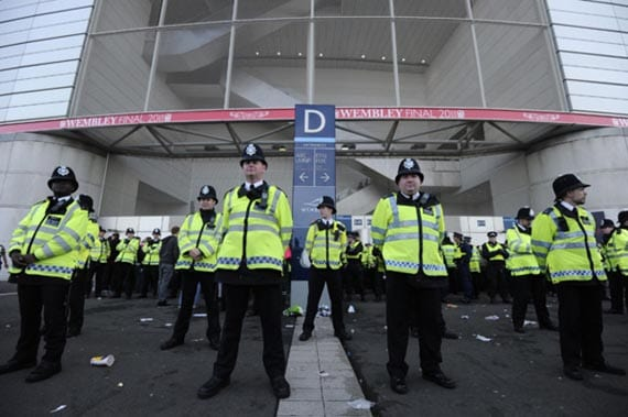 Seguridad en el estadio de Wembley