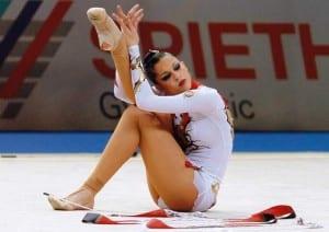 La gimnasta leonesa Carolina Rodríguez