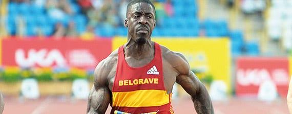 El atleta británico Dwain Chambers