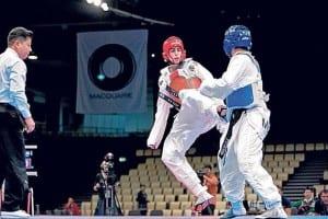 El judoka Joel González en plena competición