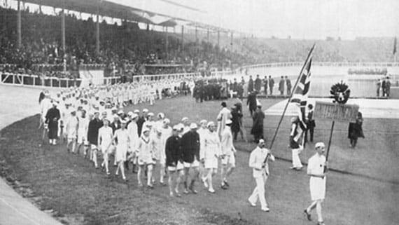 Ceremonia de inauguración de los JJOO de Londres 1908