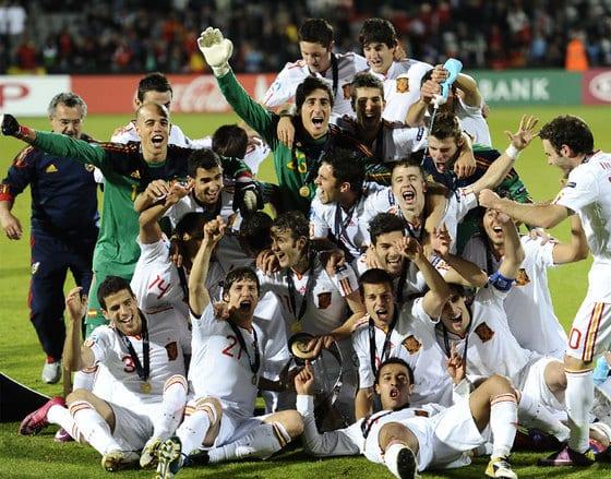 La selección española de fútbol sub21