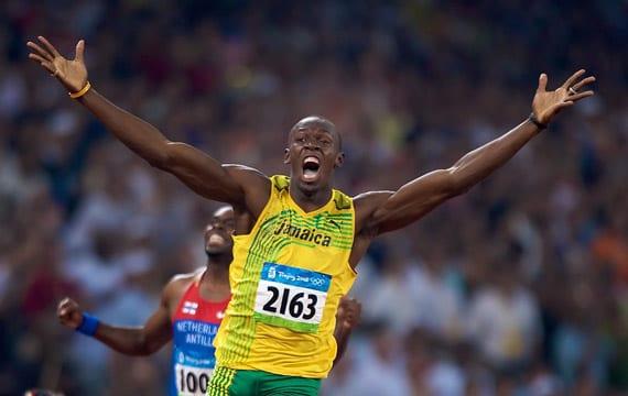 Usain Bolt en los Juegos Olímpicos de Pekín