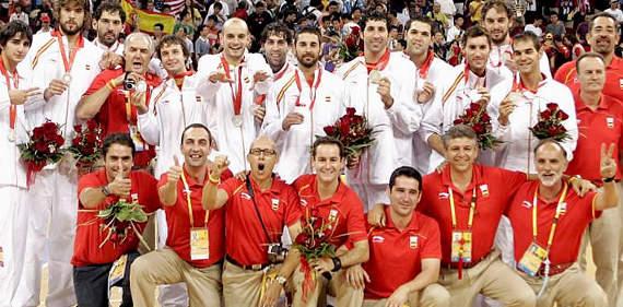 La selección que ganó la plata en los JJOO de Pekín 2008