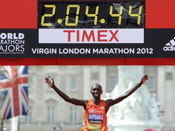 Meta de la maratón de Londres