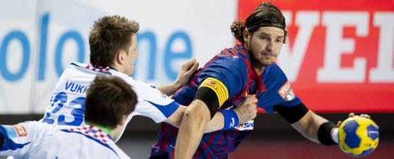 Lazslo Nagy, con el Barcelona