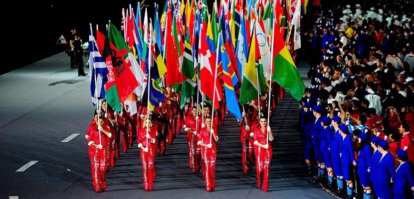 Banderas de los países participantes en los Juegos Olímpicos
