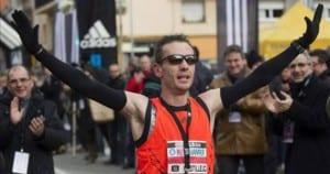 Carles Castillejo, tras ganar la media maratón de Granollers