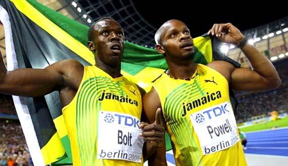 Usain Bolt y Asawa Powell