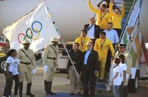 Bandera olímpica en Río