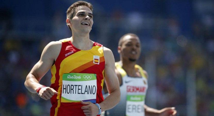 Hortelano batió su propio récord de España