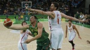 La selección española de baloncesto apabulló a la de Lituania