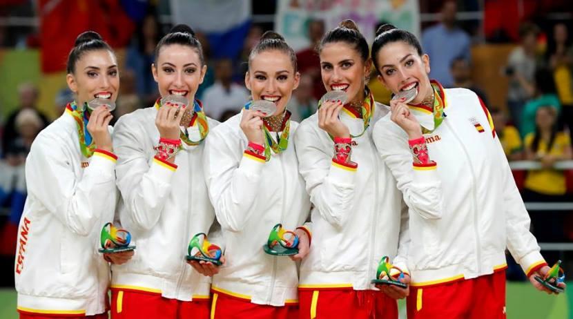 Gimnasia rítmica medalla de plata 1