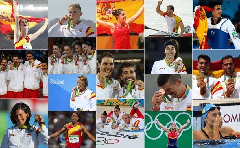 Medallas olímpicas España Río 2016