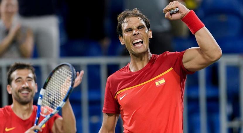 Rafa Nadal y Marc López final olímpica 1