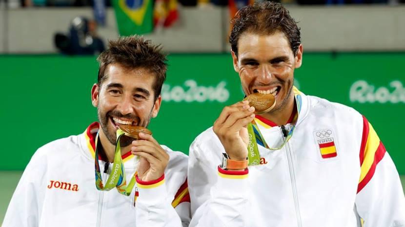 Rafa Nadal y Marc López medalla de oro